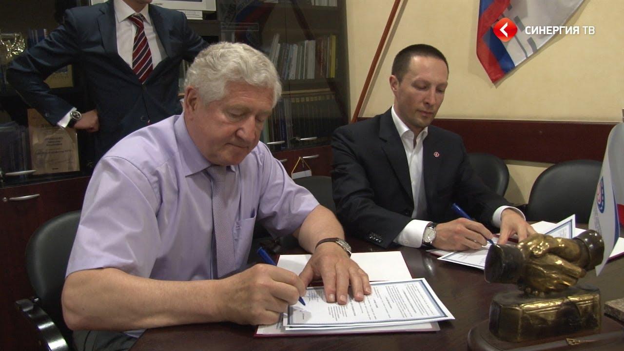 Вадим Лобов и Вячеслав Приходько подписали соглашение между Университетом «Синергия» и МАДИ