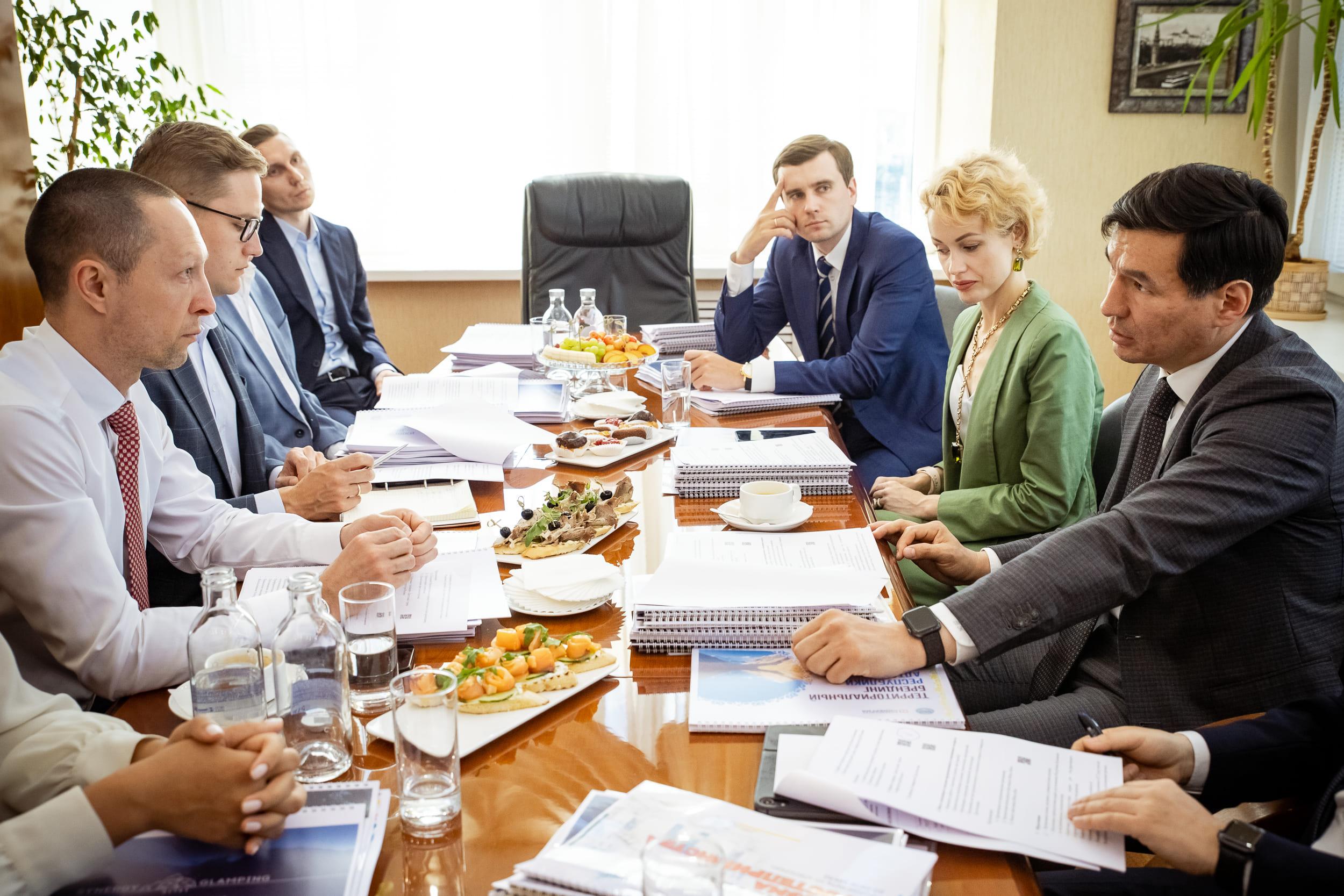Встреча с главой Республики Калмыкия - Бату Хасиковым
