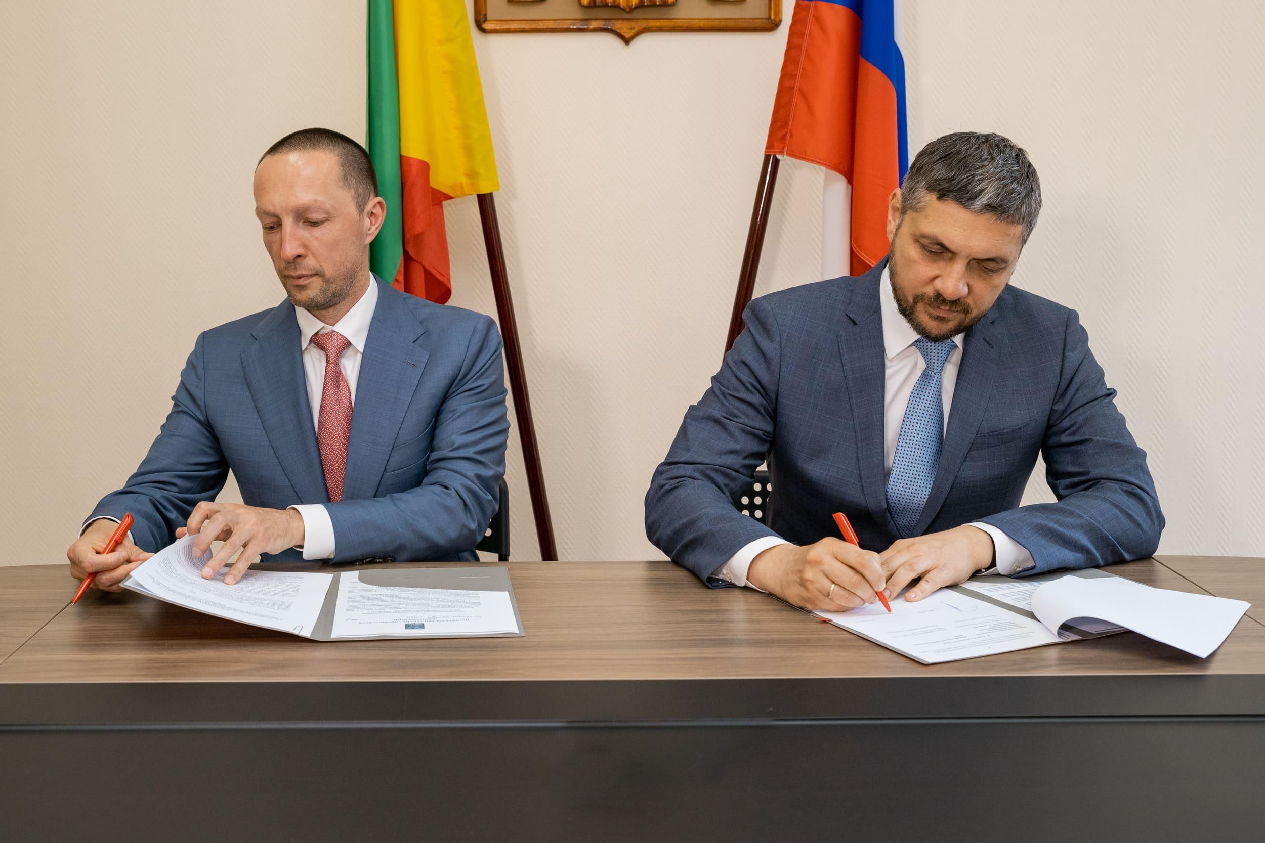 Подписание соглашения с губернатором Забайкальского края Александром Осиповым