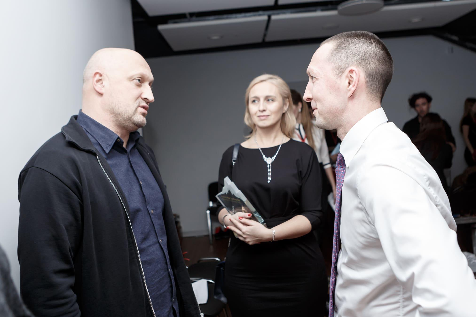 Встреча Вадима Лобова и Гоши Куценко на Synergy Charity Forum