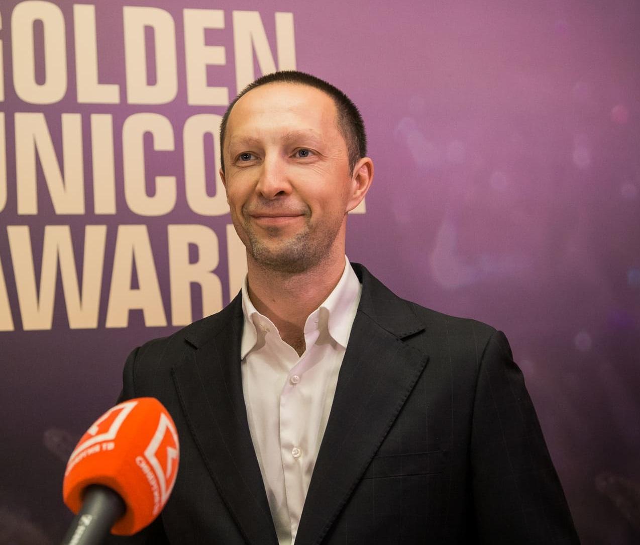 Вадим Лобов на церемонии награждения The Golden Unicorn Award