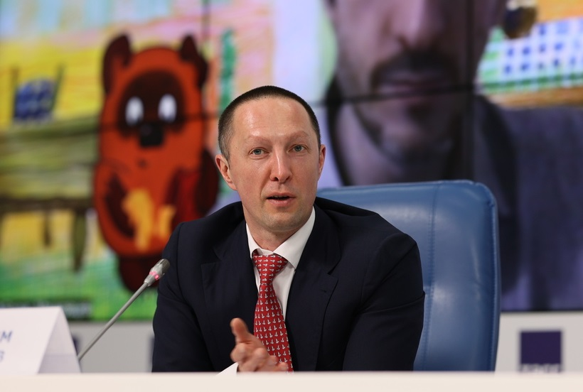Вадим Лобов на пресс-конференции «Союзмультфильм» в ТАСС